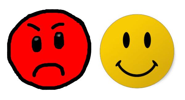 プンプン顔とニコニコ顔